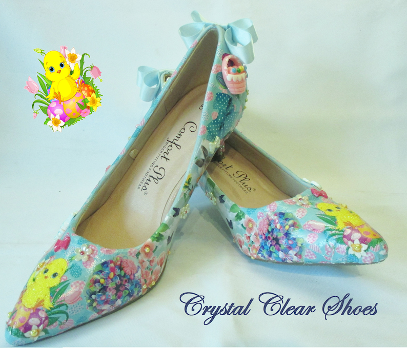 19c28f2b2daf EASTER SHOES Customised Decoupage