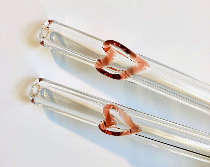 Featured listing image: Heart GLASS STRAWS - Reusable Straws | Glass Straw | Eco Friendly Straw | Glass Drinking Straw | Heart Straws | Unique Gifts | Heart Gifts