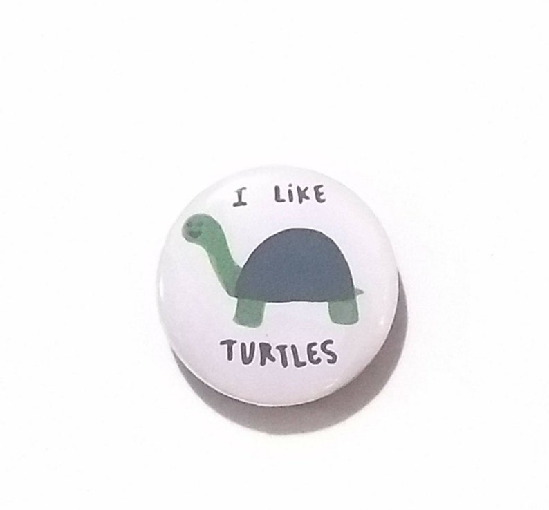I like turtles fridge magnet image 0