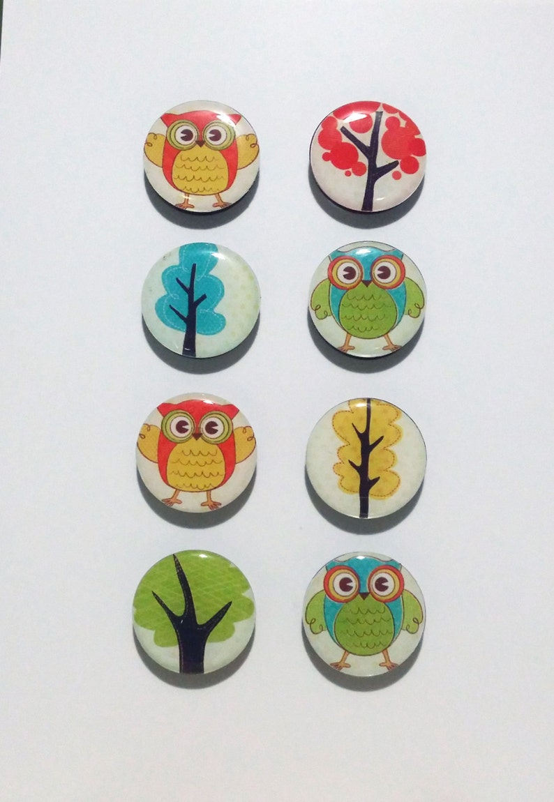 Owls and Trees Fridge Magnets / Refrigerator Magnets / Magnet image 0