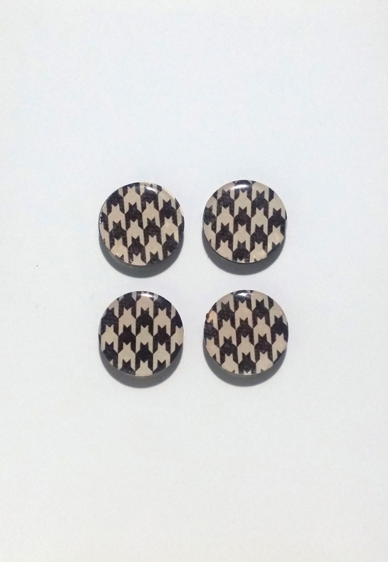 Houndstooth Fridge Magnets / Refrigerator Magnets image 0