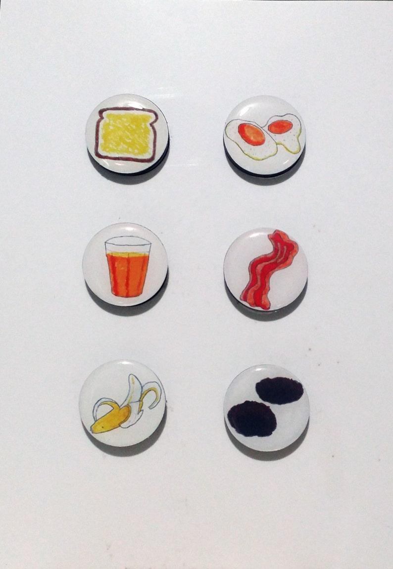 Breakfast Food Fridge Magnets / Refrigerator magnets / Magnet image 0