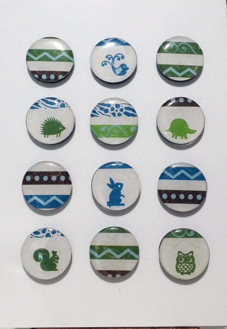 Woodland Critters Fridge Magnets / Refrigerator Magnets / image 0