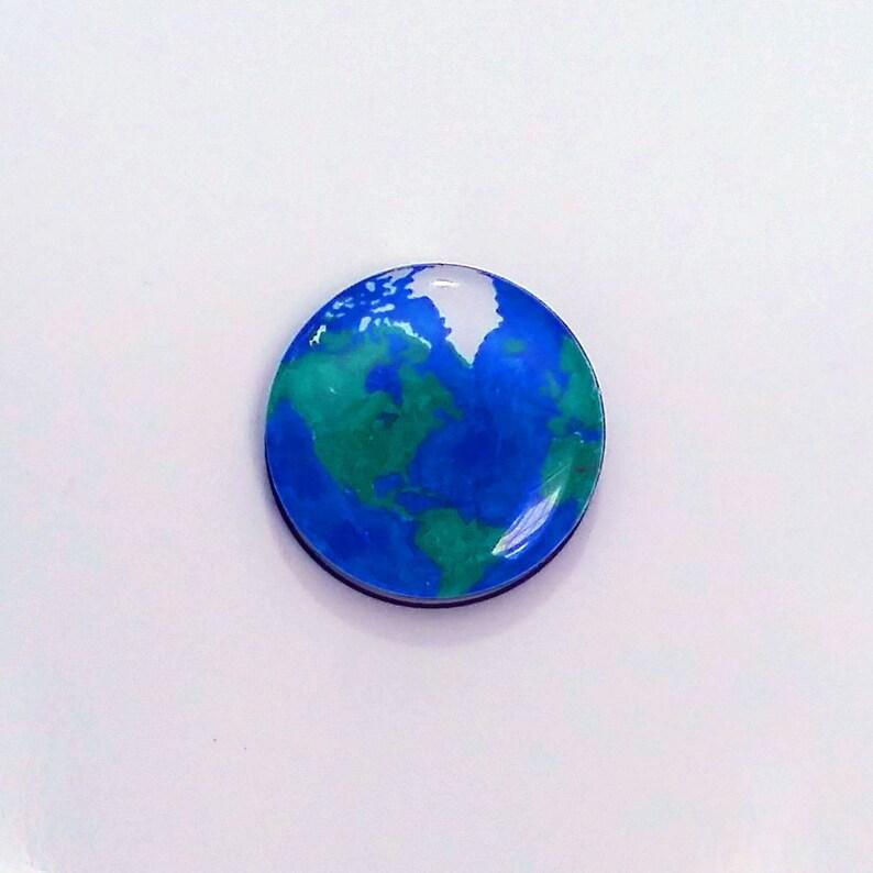 Earth Refrigerator magnet / Earth Fridge Magnet / World Magnet image 0