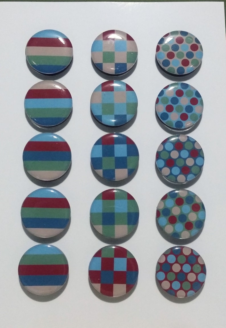 Stripes Checks Dots  Fridge Magnets / Refrigerator Magnets / image 0