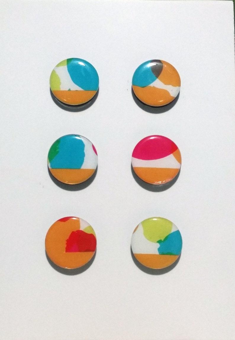 Orange Watercolor Magnet Set image 0