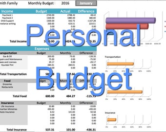 small business income expense tracker monthly budget and cash etsy