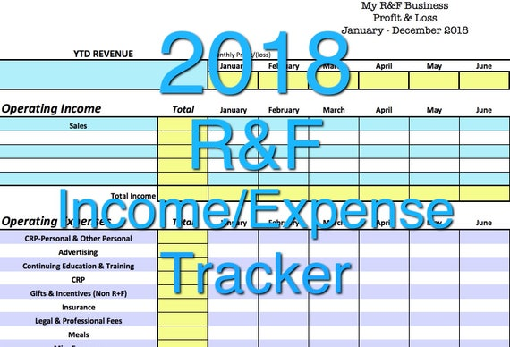 2018 rodan fields income expense tracker exclusive monthly etsy