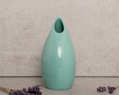 Turquoise Ceramic Vase  -  Contemporary Porcelain Vase - Sculpture Flower Vase