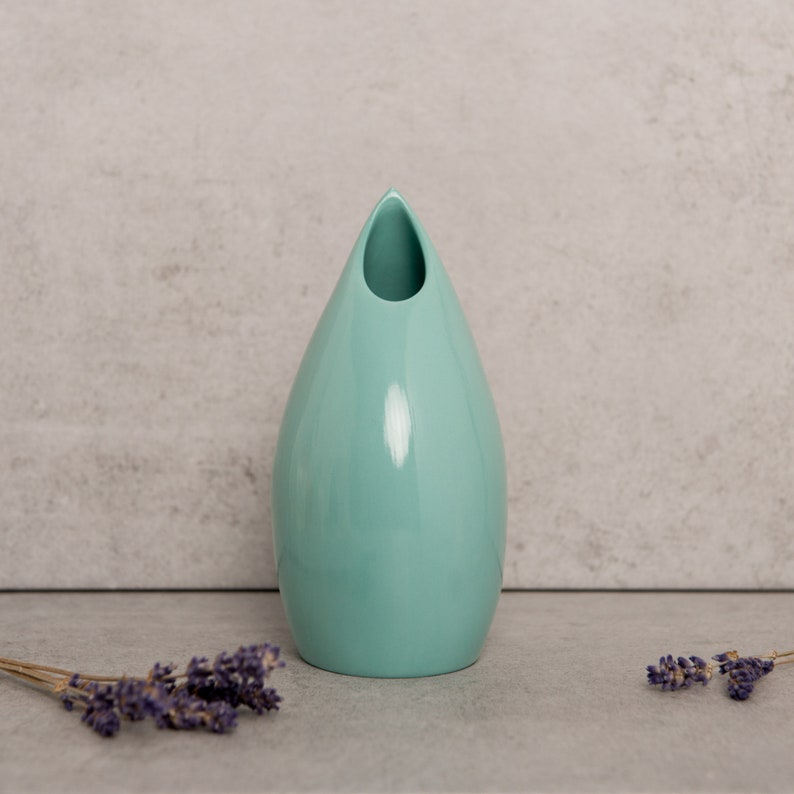 Turquoise Ceramic Vase    Contemporary Porcelain Vase  image 0