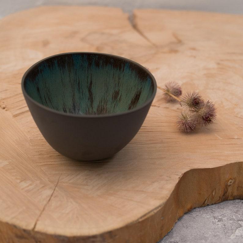 Contemporary Ceramic Bowl  Luxury Handless Cup  Black Bowl  image 0