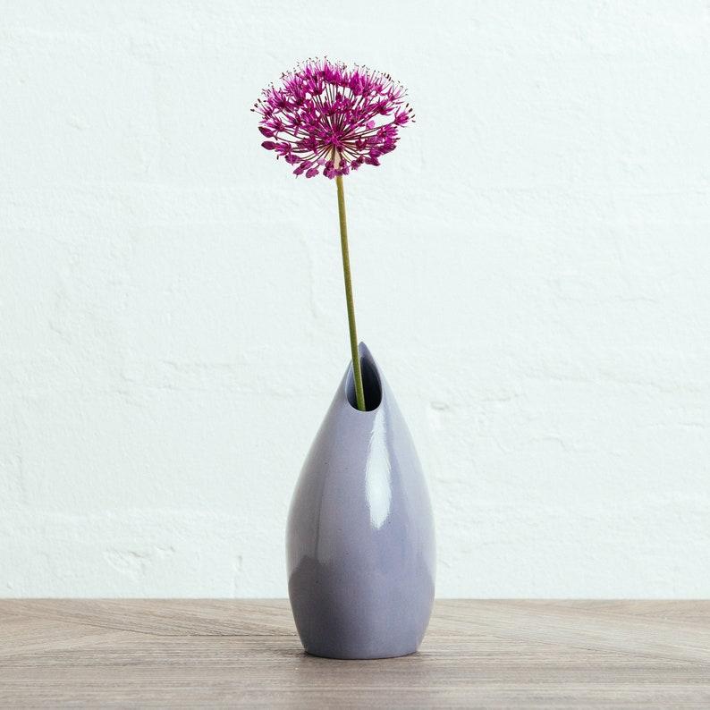 Violet Ceramic Vase    Contemporary Porcelain Vase  image 0
