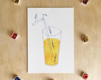 Orange Juice - Giclée Print
