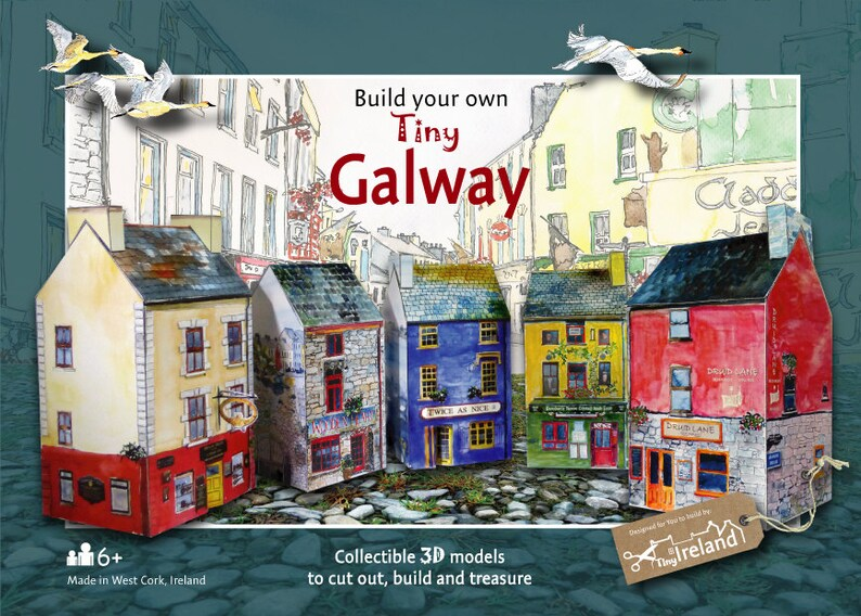 Super Build Your Own Tiny Galway An Innovative Irish Paper Model Kit Download Free Architecture Designs Rallybritishbridgeorg