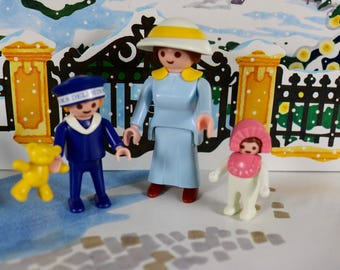 Playmobil vintage Victorian family mother with children set 5406 complete Geobra