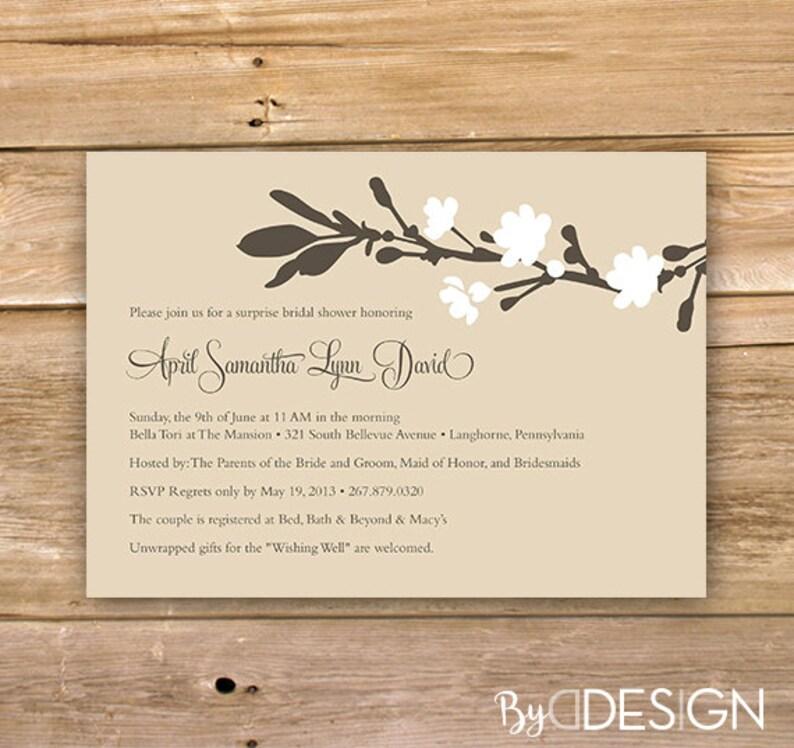 6182a9787820 Bridal Shower Invitation Flower bridal shower invitation
