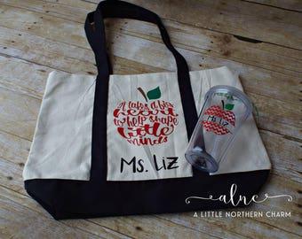 teacher tote bag teacher book bag personalized teacher etsy