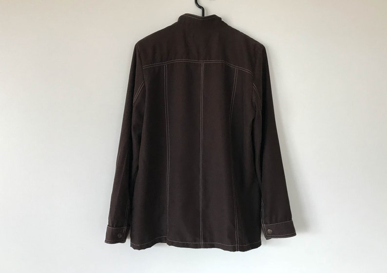Brown Jacket Men Jacket Fitted Jacket Lightweight summer shirts Summer Blazer Brown shirts Jacket with knocker Small Size Jacket