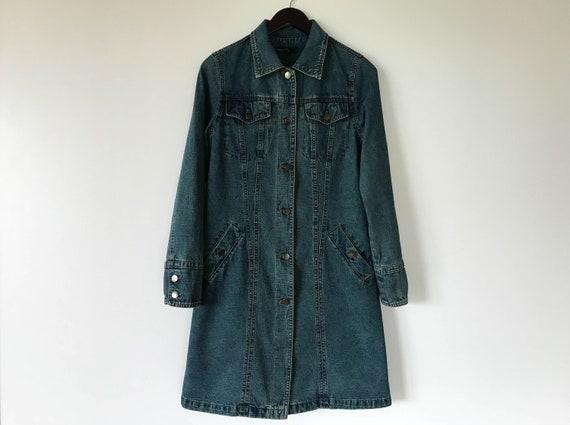 Long Femmes Denim Vintage Veste Femme Manteau Jeans APXAfqw