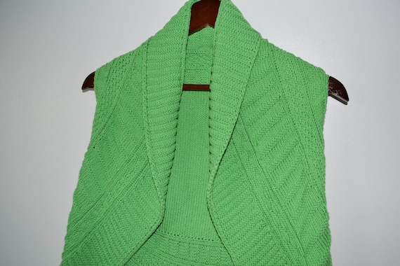 Crocheted Green short Pancho  Warm Women pancho Crocheted women Sweater Knitted Pancho Women Boho cardigan Park jack Gift for her