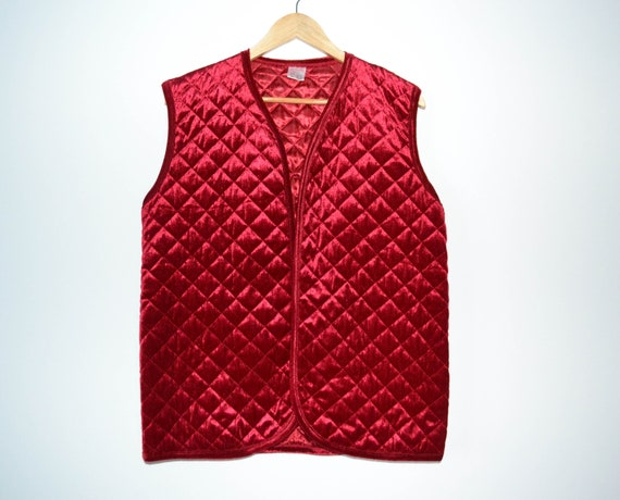 Red velvet Women's Vest Steampunk Waistcoat Red Ve