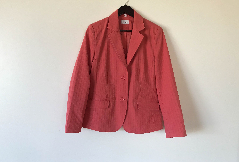 Pink summer Jacket Women holidays Jacket Lightweight women's jacket with lining Fitted Jacket Boho Summer Blazer Medium Size Bohemian Jacket