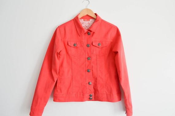 Vintage Pink Denim Jacket Women Denim Jacket Fitte