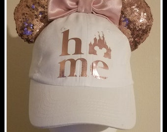 2d553429 ... shopping super cute rose gold mickey mouse hat or minnie mouse hat.  rose gold minnie