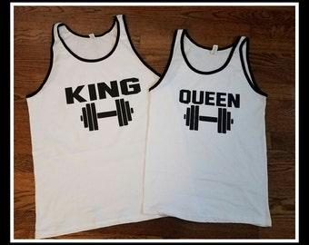 95a401501d698 King Queen Tank Top Set
