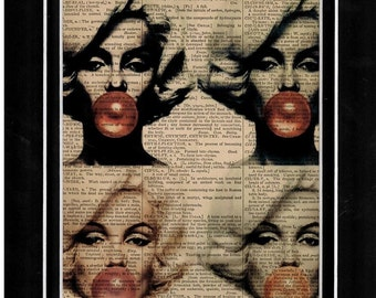 122 Antique dictionary Marilyn Monroe art