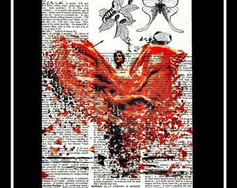 440 Dancer dispersion vintage dictionary  art print
