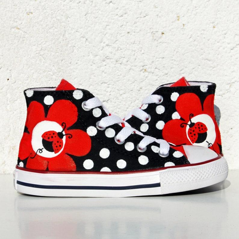 64e25f9a99ff LADYBUG Custom Sneakers Handpainted Shoes Sunflower
