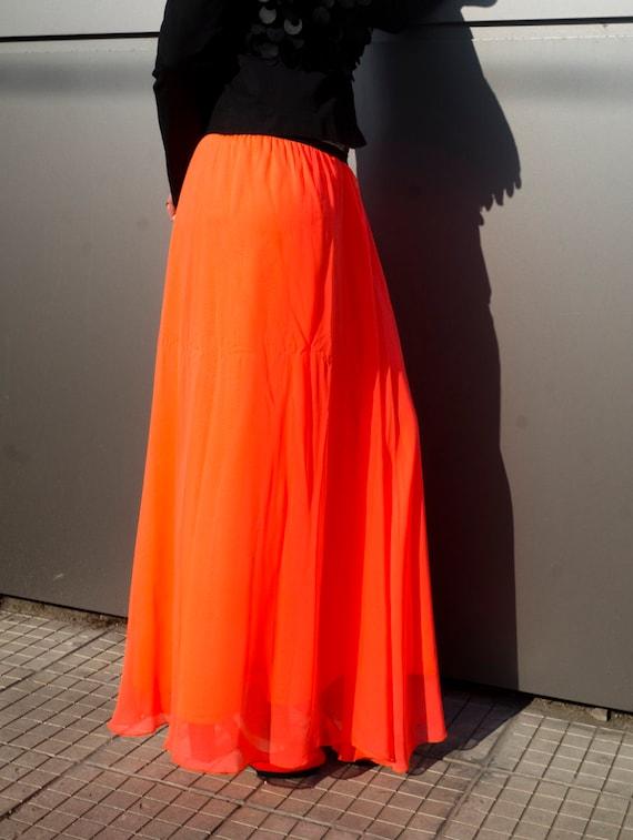 c0be210979e NEW Summer Maxi Skirt   Soft Cotton Orange Plus Size Skirt
