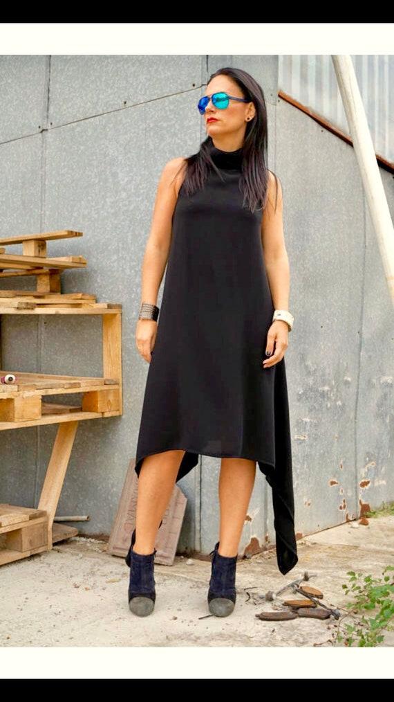 Black Backless Dress/ Maxi dress/ Women\'s Clothing/ Oversized Dresses/  Loose Dress/ Kaftan Plus Size Dress/ Maternity Dress by YoLineXL