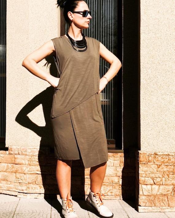 Olive Green Plus Size Maxi Dress/ Boho maxi dress/ Women\'s Clothing/ Kaftan  Maxi dress/ Caftan Long dresses/ Cotton Boho Dress by YoLineXL