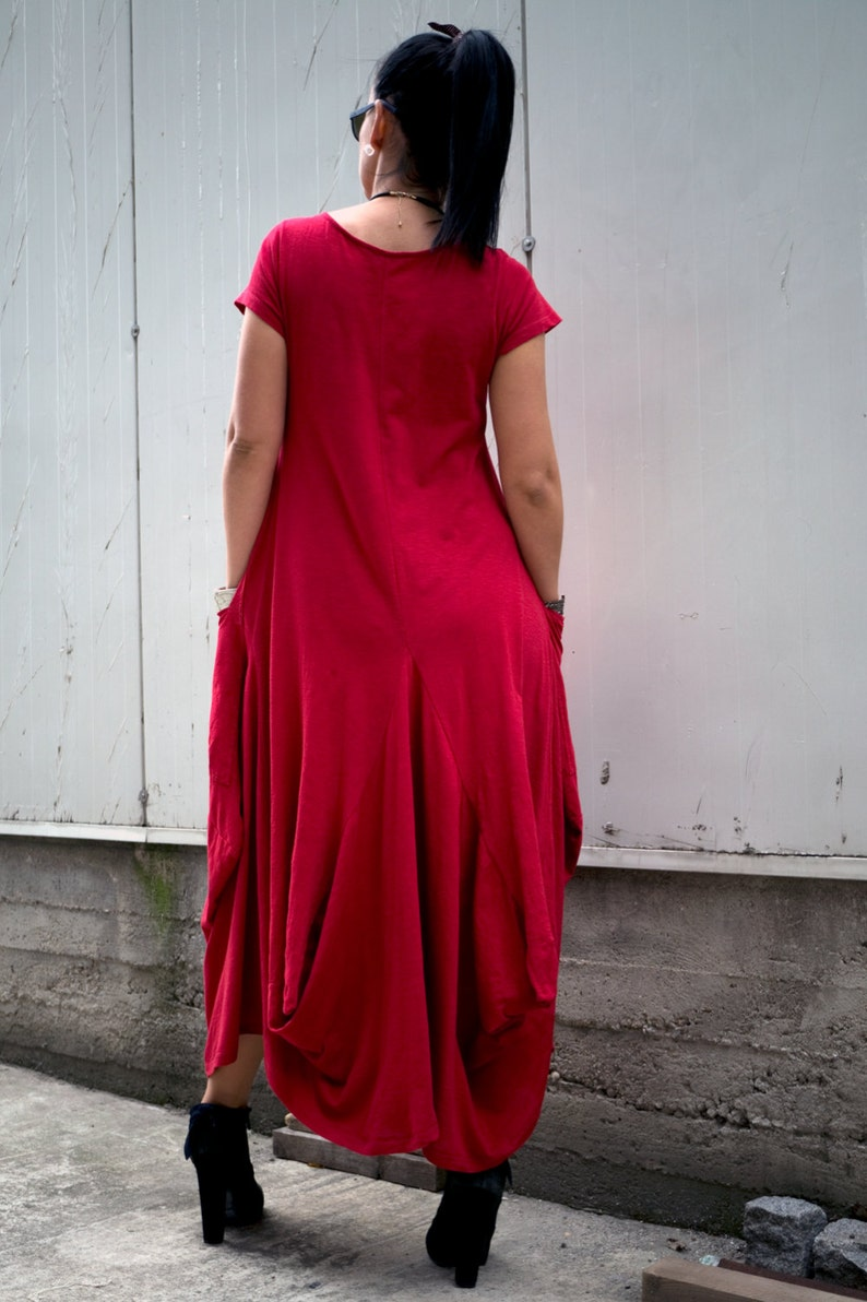 Red Loose Dress Midi dress Women/'s Clothing Plus Size Clothing for Women Oversized Dress Caftan Long Black Dress Plus size Maxi Dress