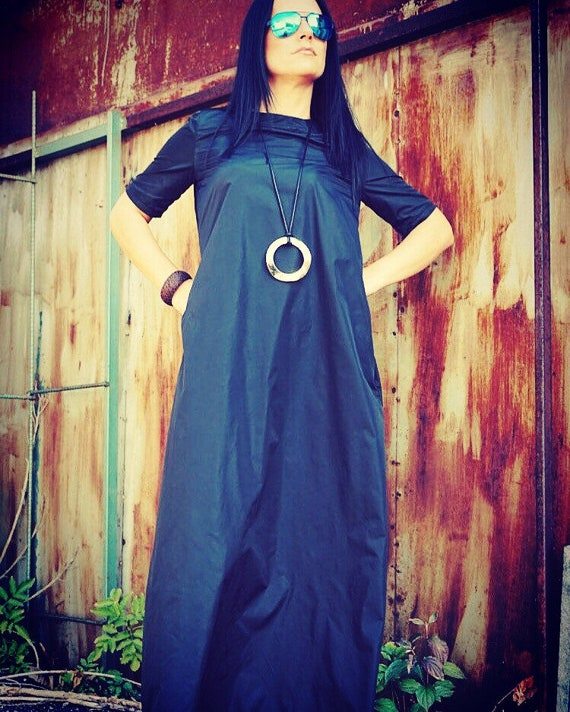 Caftan Black Maxi Dress Evening Gown Plus Size Boho Dress Etsy