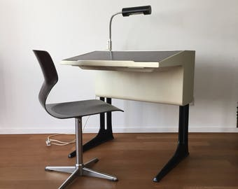 70er Jahre Flötotto Kunststoff-Schreibtisch von Luigi Colani