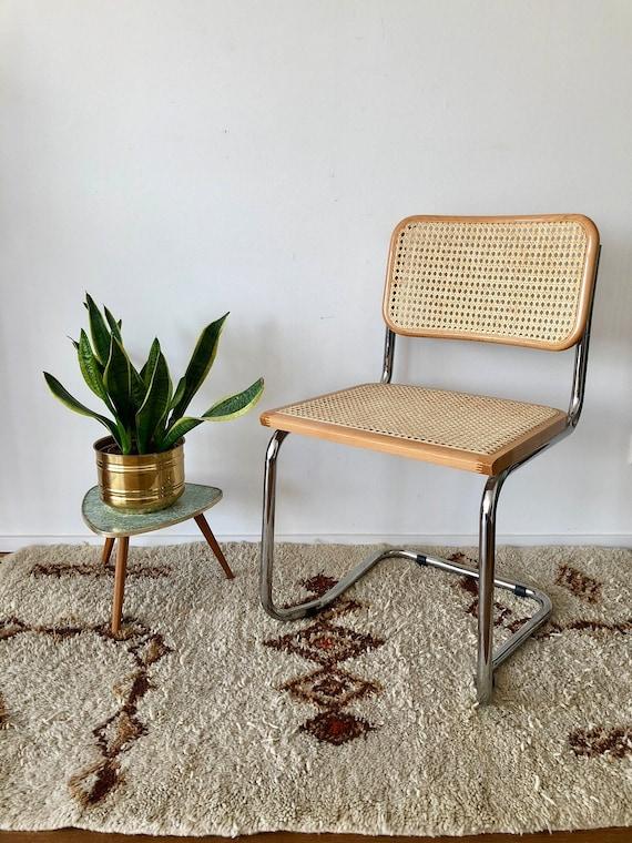 70er Jahre Freischwinger Stuhl Mit Wiener Geflecht Im Thonet Stil