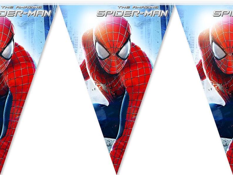 Spider Man Party Banner Spiderman Birthday Decor Spider-Man Banner