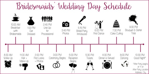 il_570xN.983813900_c4e7 wedding party schedule timeline with icons customized and etsy