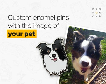Dog enamel pin - enamel pins with pet - custom pins with pets - pins with cat - personalized lapel pins - animal enamel pins
