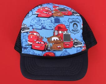 9729873b4ee81a Lightening McQueen Cars Hat | Toddler Child Adult Hat | Custom Disney  Snapback | Daddy and me