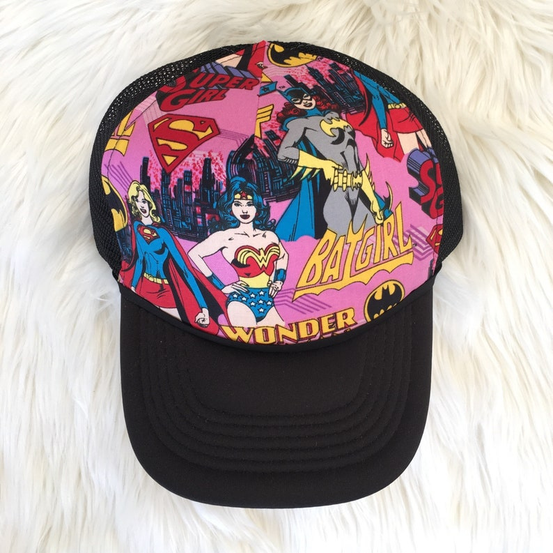 80417250104 Super Girls Hat Trucker Hat for Wonder Woman Batgirl | Etsy