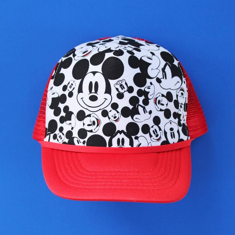 super popular 1c81d e1b14 Mickey Mouse Snapback Hat Kids Trucker Hat Adult Toddler   Etsy