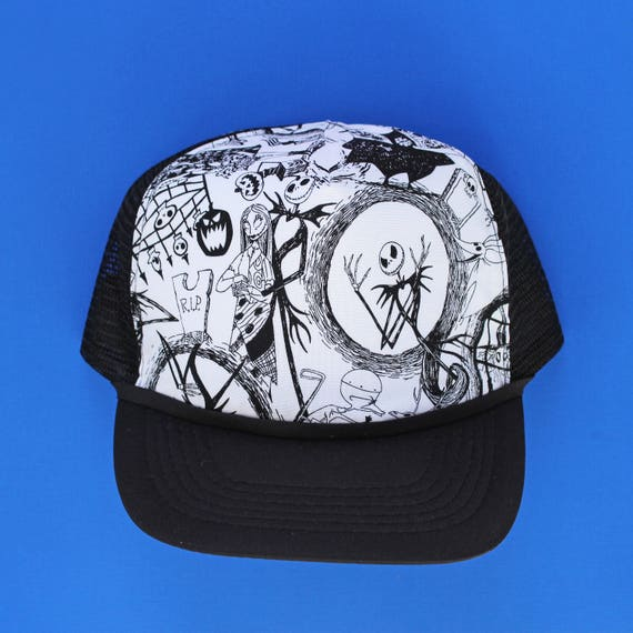 70f4206bf24 Nightmare Before Christmas    Mesh Adjustable Trucker Hat for