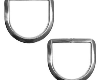 """2 Pack Saddle Replacement Dees 3"""" Stainless Steel"""