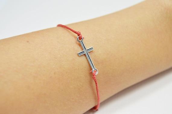 Croix Bracelet pour homme fil rouge du destin fil rouge de   Etsy 5589d3e23b83