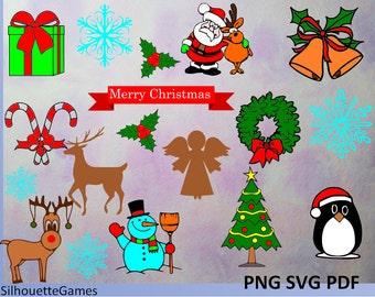 Weihnachten Hirsche Schlitten Rentier Weihnachtsmann Etsy