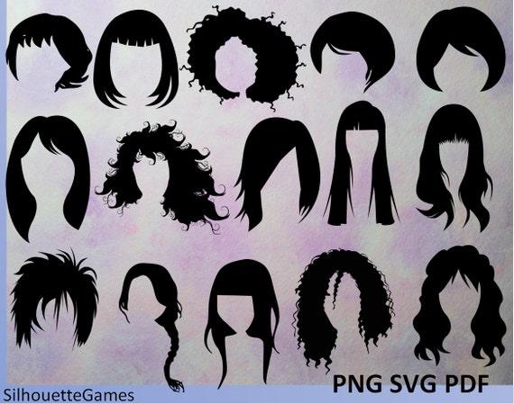 Hairstyles Women Hairstyles Hairstyle Silhouettes Black Hair Silhouettes Hair Style Hairdressing Woman Hair Vector Hair